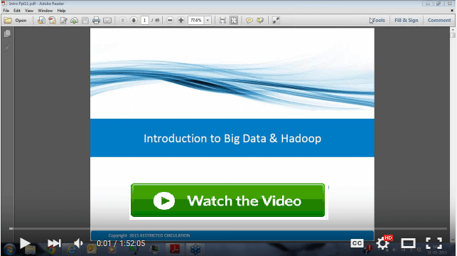 Introduction to Hadoop & Big Data