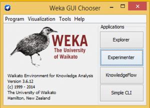 GUI of Weka
