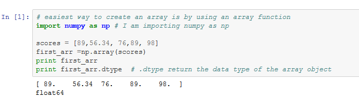 How to import Numpy using Ipythona