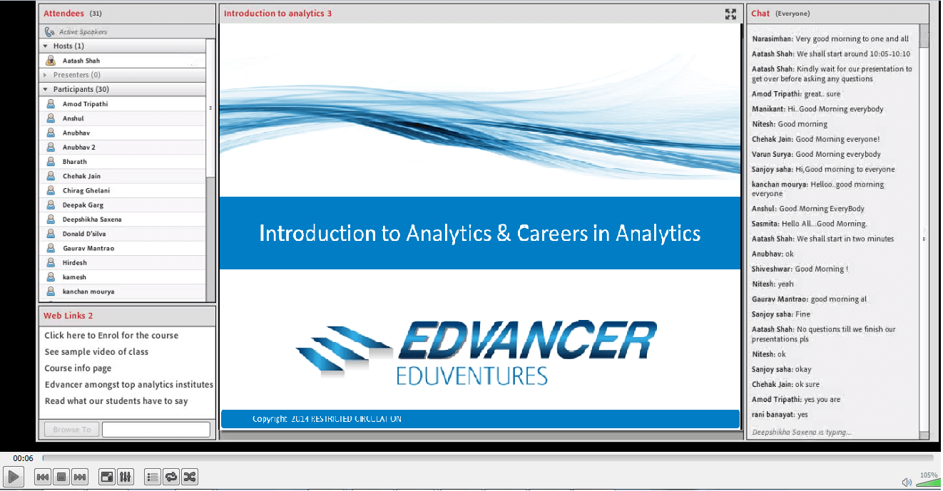 Introduction to analytics