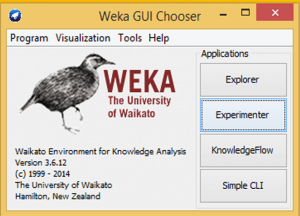 GUI of Weka