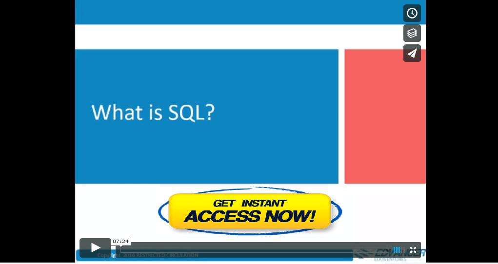 SQL Course Video